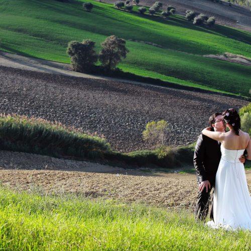 Servizio fotografico di matrimonio tra le colline abruzzesi,