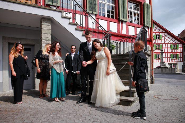 Fotografo di cerimonia nuziale a Zurigo
