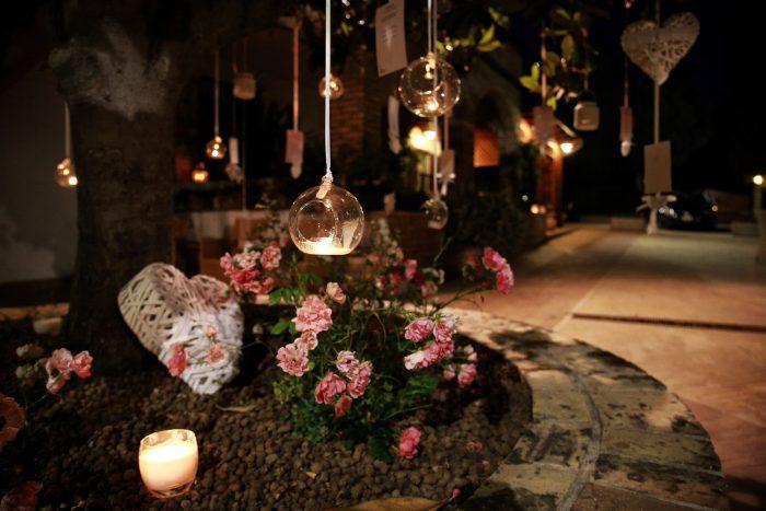 Matrimonio al Country House San Pietro in Abruzzo: particolare in notturna