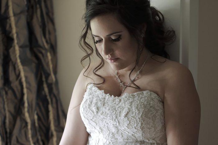 Foto della sposa prima della cerimonia nuziale in Svizzera