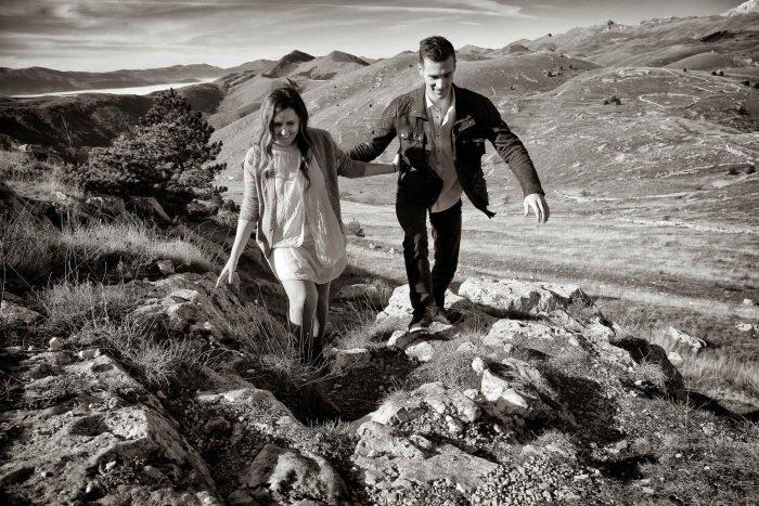 Servizo prematrimoniale a Rocca Calascio insieme tra le rocce