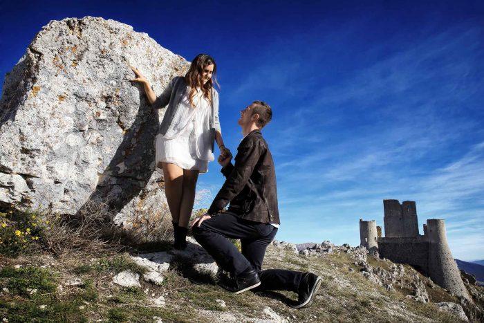 Servizo prematrimoniale a Rocca Calascio una promessa è per sempre