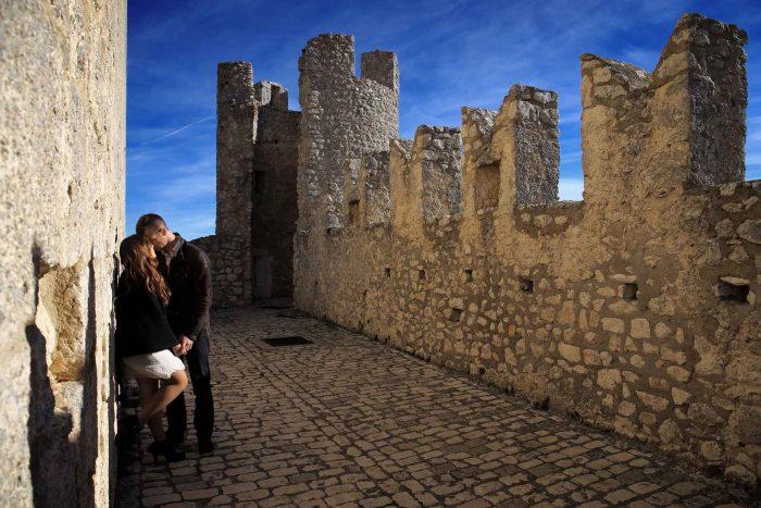 Servizo prematrimoniale a Rocca Calascio sognare ad occhi aperti