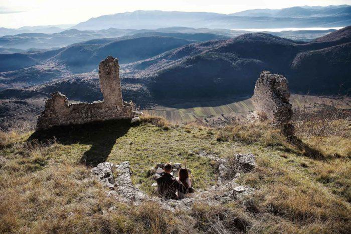 Servizo prematrimoniale a Rocca Calascio una splendida giornata